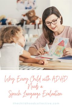 If your child has been diagnosed with ADHD, a speech language evaluation is essential for getting a complete picture of their strengths and areas of need! Speech language pathologists look at language processing, expressive language, narrative language, speech sounds, reading, writing, and social skills. #speechpathologist #speechtesting #ADHD Adhd And Autism, Adhd Kids, Speech Language Pathology, Speech And Language, Adhd Strategies, Teaching Time, Speech Therapy Activities, Language Development, Behavior Management