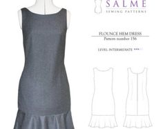 PDF Sewing pattern Loose fitting pleated t-shirt by Salmepatterns