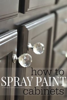 Can you use spray paint to paint cabinets?  Sure! I'm showing you what you need to do and how to prepare to spray paint cabinets! It's easier than you think