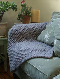 lacy chunky throw blanket herringbone texture classic elite yarns