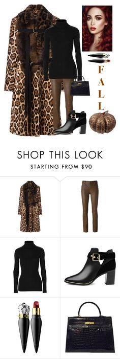 """""""Fall"""" by kotnourka ❤ liked on Polyvore featuring Givenchy, STOULS, Autumn Cashmere, Ted Baker, Christian Louboutin and Hermès"""