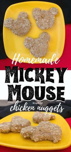 Homemade mickey mouse chicken nuggets are an egg-free, baked way to get your kids excited about dinner! This homemade ch Homemade Chicken Nuggets, Baked Chicken Nuggets, Chicken Nugget Recipes, Easy Dinners For Kids, Healthy Meals For Kids, Kids Meals, Toddler Meals, Mickey Mouse Food, Nuggets Recipe