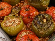 Greek Recipes, Sweet Home, Food And Drink, Cooking Recipes, Stuffed Peppers, Vegetables, Cyprus, Pastries, Leaves