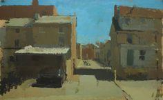 """Hermitage Street Backyards, 12""""x20"""", 2013"""