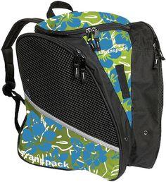 Transpack Ice Skating Bag - Lime/Aqua/White Multi Floral