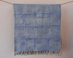 Kantha Quilt / Sari Blanket / Cotton Rug / by JaipurHometextiles Cotton Blankets, Cotton Towels, Anthropologie Rug, West Elm Rug, Handmade Baby Quilts, Area Rugs For Sale, Indian Rugs, Quilted Bedspreads, Blue Quilts