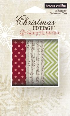 Teresa Collins - Christmas Cottage Collection - Washi Tape at Scrapbook.com $9.99