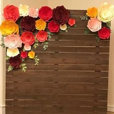 Paper flower templates. This gorgeous paper flower wall was created by using Paperflora DIY templates. Each includes a step by step video.