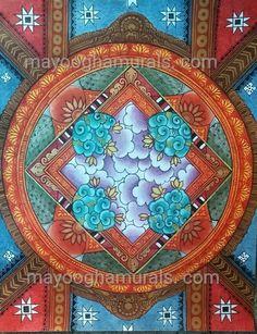 Mayoogha Mural Painting arts gallery is online art gallery-Guruvayoor is an innovative initiative by Mural artist Sastrasarman Prasad. Bussines Ideas, Kerala Mural Painting, Mural Art, Murals, Indian Paintings, Paint Designs, Indian Art, Traditional Art, Online Art Gallery