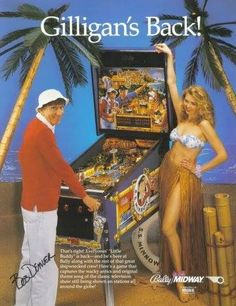 This is the 3 chip set containing the sound code for Gilligans Island pinball. It is the latest version available from Bally/Williams. Gilligan's Island Pinball Software Revision Information. Flipper Pinball, Promo Flyer, Pinball Wizard, Nostalgia, Sale Flyer, Classic Tv, Classic Video, Theme Song, Vintage Ads
