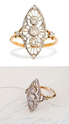 Trendy Diamond Rings : Art Deco Diamond Ring