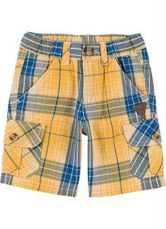 Bermuda Infantil Menino Amarelo Milon - Posthaus Toddler Fashion, Toddler Outfits, Baby Boy Outfits, Boy Fashion, Kids Outfits, Kids Shorts, Boy Shorts, Short Niña, Sewing Kids Clothes