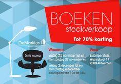 Boeken stockverkoop -- Antwerpen -- 25/11-04/12