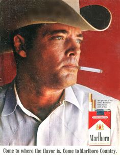 Marlboro Cigarettes Marlboro Man 1967 - Mad Men Art: The 1891-1970 Vintage Advertisement Art Collection