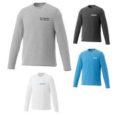 """Custom Printed Men's Holt Crewneck Long Sleeve Tee: A comfortable wear during the chilly cold winters. Available Colors: White, Olympic Blue Heather, Heather Gray, Heather Dark Charcoal. Product Size: S, M, L, XL, 2XL, 3XL. Imprint Area: Centered on Left Chest Right Chest 4.00"""" H x 4.00"""" W. Material: 65% Polyester 35% Cotton #sweatshirt #fashion #men #ootd"""