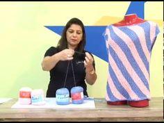 Cristina Amaduro - Blusa verão em tricô - YouTube