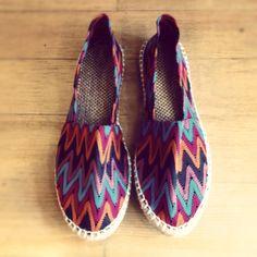 tribal print shoes.
