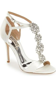 Badgley Mischka 'Leigh' Embellished Evening Sandal (Women) available at #Nordstrom