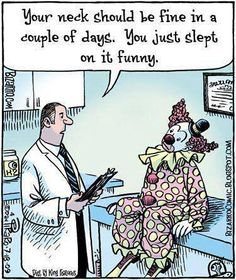 At Oahu Spine & Rehab we treat patients who need assistance with physical therapy, chiropractic care, pain management, and massage therapy. Chiropractic Humor, Funny Images, Funny Pictures, Bizarro Comic, Medical Humor, Neck Pain, Happy Weekend, Funny Cartoons, T 4