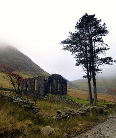Abandoned Quarry Chapel - Found in Blaenau Ffestiniog Quarry, Wales. Photo by Dafydd Em on flickr.com