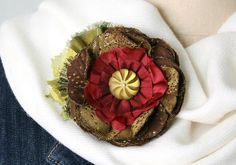 Whimsical Button Pin - Flower Accessory