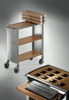 Produktdesign und Fotostil der 90er: fetra campus Servicewagen, design nexus produkt design