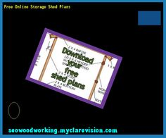Free Online Storage Shed Plans 080042 - Woodworking Plans and Projects!
