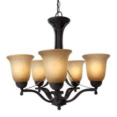 I love our chandelier :)   Rustic Iron 5-Light Chandelier.