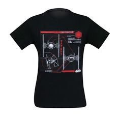 Build your own Star Wars TIE Fighter from the official and most accurate schematics available on the this Stars Wars t-shirt for men based on 'The Last Jedi. R2 Unit, Space Fighter, Star Wars Love, Star Wars Merchandise, Tie Fighter, Star Wars Tshirt, How To Have Twins, Death Star, Last Jedi