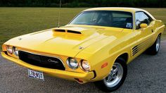 Dodge Challenger.... YELLOW CAR!!!   @Josie Mattson  @ℓчʂʂα ℓҽҽ ☠  And I know that you already sent this to me but i dont really care @Molly Mattson
