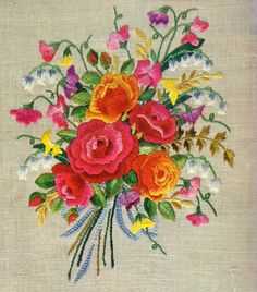 vintage embroidery. I wish mine could look this good.