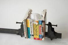 A Skull of Books sculpture books anatomy