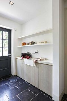 Laundry Room Storage, Laundry In Bathroom, Washroom, Modern Country Style, Interior Decorating, Interior Design, Villa, House Goals, Construction