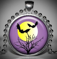 Halloween Pendant  Halloween Jewelry  Halloween Necklace by Jaylos, $8.00