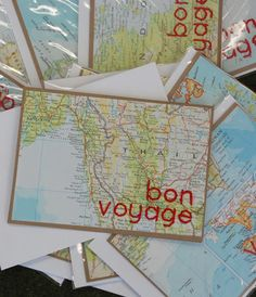 $6.95 bon voyage card - hand crafted by peggy takes manhattan #staffpicks
