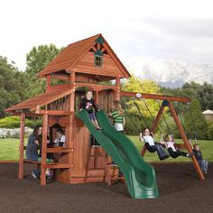 Backyard Discovery Everglade All-Cedar Swing Set / Playset - Sam's Club Cedar Swing Sets, High Deck, Family Leisure, Cedar Lumber, Wooden Playset, Playground Set, Best Deals On Laptops, Toy House, Play Houses