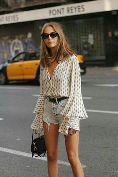 Patterned blouse.