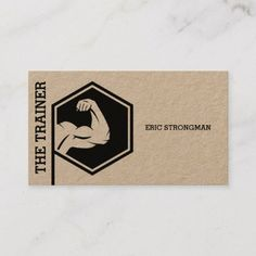 Shop Strong style fitness inspiration kraft business card created by TwoFatCats. Personal Gym, Personal Trainer, Gym Design, Logo Design, Gym Logo, Park Art, Weight Loss Workout Plan, Fitness Logo, Fitness Inspiration