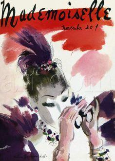Mademoiselle cover by Helen Jameson Hall, November 1935.