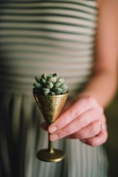 Super cute wedding favor! #Succulent | On SMP: http://www.StyleMePretty.com/2014/01/31/woodland-wedding-inspiration-wiup/ Photography: Delbarr Moradi