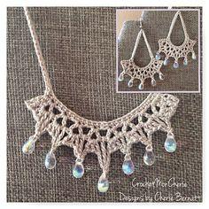 Ravelry: Tanya's Teardrops Jewelry Set pattern by Cherie Bernatt