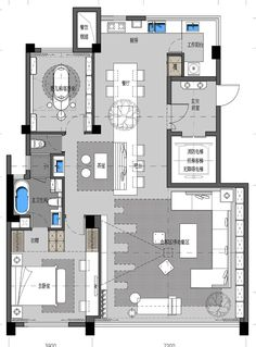 Pin by niva on stopgap. Modern House Plans, Small House Plans, House Floor Plans, Detail Architecture, Architecture Plan, Interior Design Layout, Villa Plan, Apartment Floor Plans, Apartment Layout