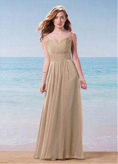 cbff838aae5  99.99  Glamorous Silk-like Chiffon V-Neck A-Line Bridesmaid Dresses With  Beads