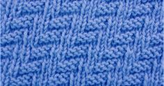 The stitch uses only knit and purl stitches to create a Rib and Welt pattern.