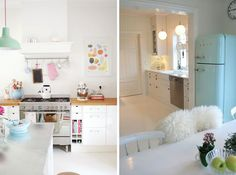 pastel accents in a modern home