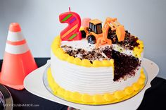 Construction-Themed Birthday Party Cake