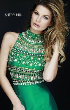 Dresses /// stunning embelished #green dress / #formal l #Dresses