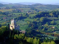 View of Tuscany from Montepulciano, Italy