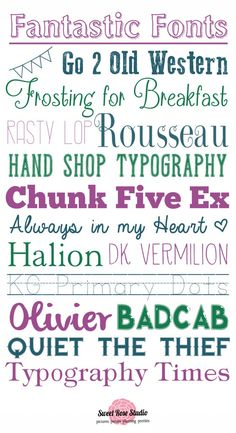 Fantastic Fonts [from Sweet Rose Studio]  ~~  {16 FREE fonts w/ links}