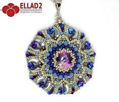 Tutorial Kalinda Pendant Beading tutorial with Zoliduo beads